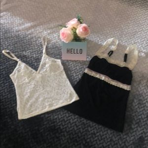 Duo of intimate tops by Rampage/Secret Treasures